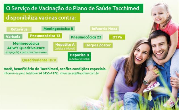 Serviço de Vacinação do Tacchimed - 54 3455-4172